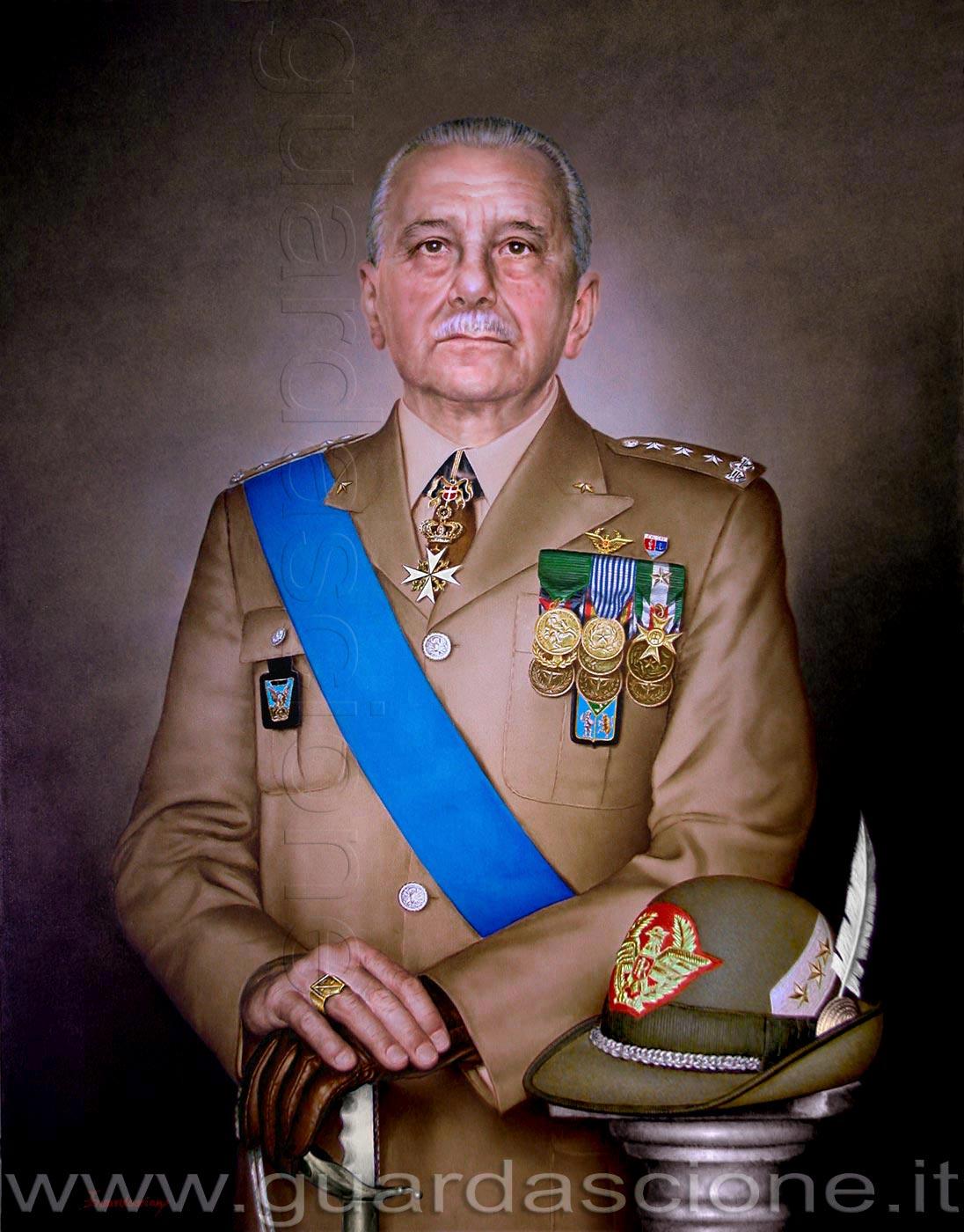 ritratto dipinto a olio di generale dell esercito corpo alpini con cappello 48a11f6cc2e9