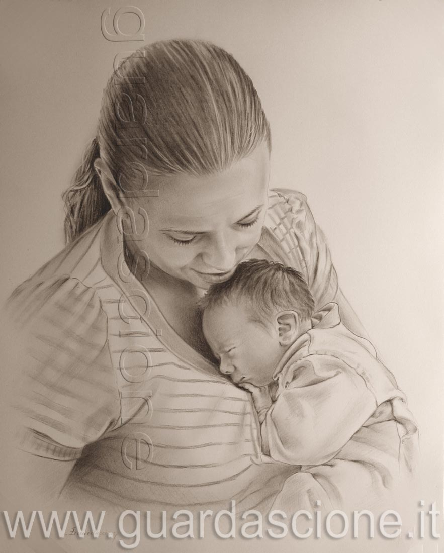 Top QUADRO di Mamma con Bambino OC26