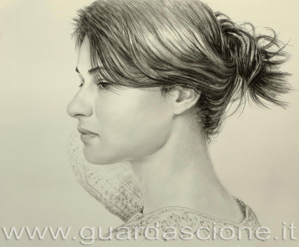 Ritratti a carboncino ritratto da foto in bianco e nero for Dipinti moderni bianco e nero