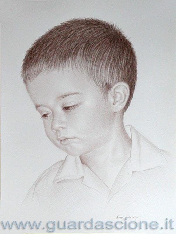 Ritratto di bambino con disegno dd46 pineglen for Immagini teschi disegnati