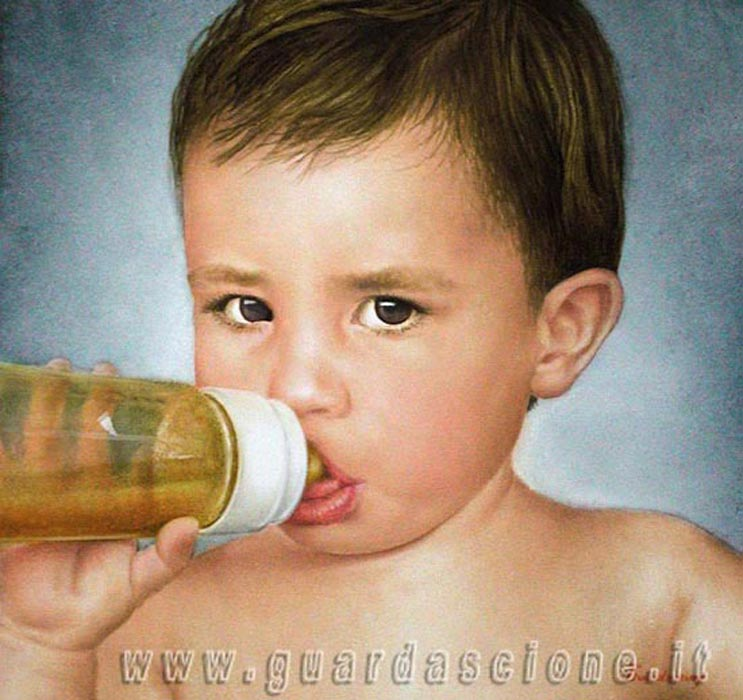 Exceptionnel RITRATTI DI BAMBINI eseguiti da FOTOGRAFIE - ritratti di bimbi  MK34