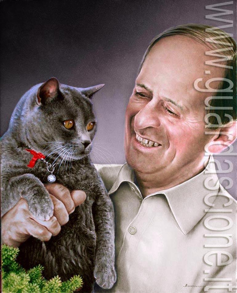 Vorrei il ritratto del mio gatto commissionare ritratti - Olio di ruta repellente gatti ...